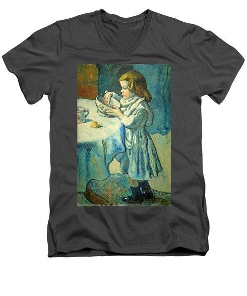 Picasso's Le Gourmet Men's V-Neck T-Shirt