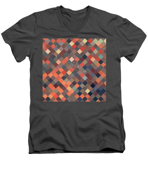 Pixel Art Men's V-Neck T-Shirt