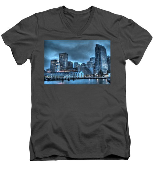 Port Of San Francisco Men's V-Neck T-Shirt