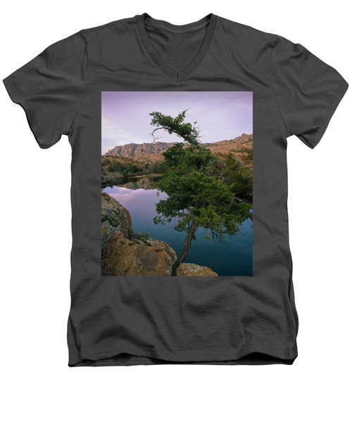 Post Oak Lake And Elk Mountain Men's V-Neck T-Shirt