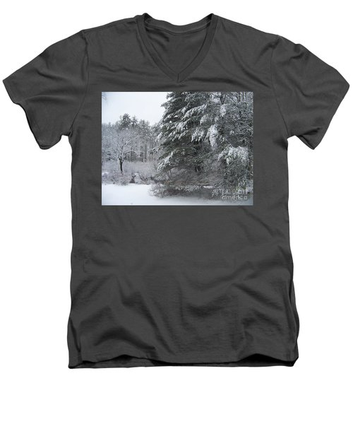 Men's V-Neck T-Shirt featuring the photograph Powdered Sugar by Eunice Miller