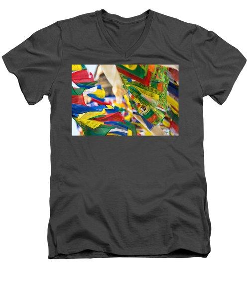 Prayer Flags Men's V-Neck T-Shirt