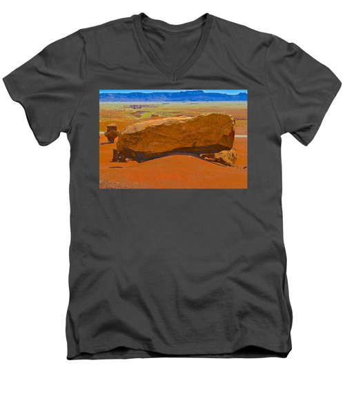 Rock Orange Men's V-Neck T-Shirt