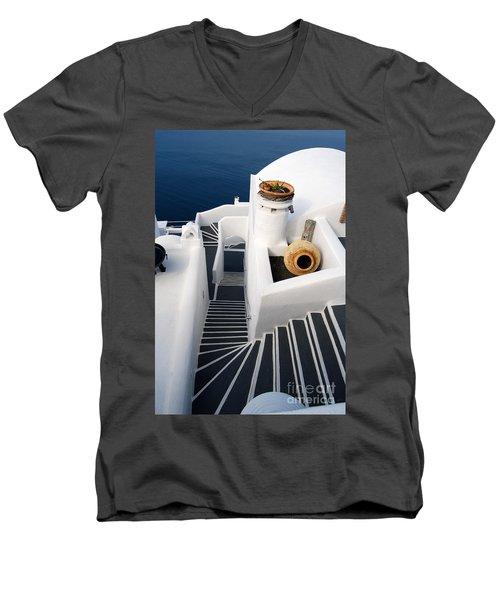 Santorini Steps Men's V-Neck T-Shirt