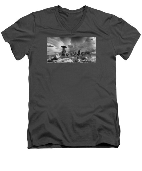 Men's V-Neck T-Shirt featuring the photograph Sky City Casino by Keith Kapple