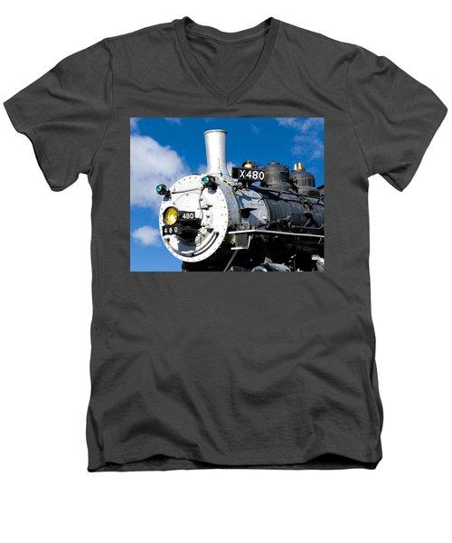 Smiling Locomotive Men's V-Neck T-Shirt