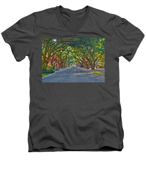 South Boundary Men's V-Neck T-Shirt