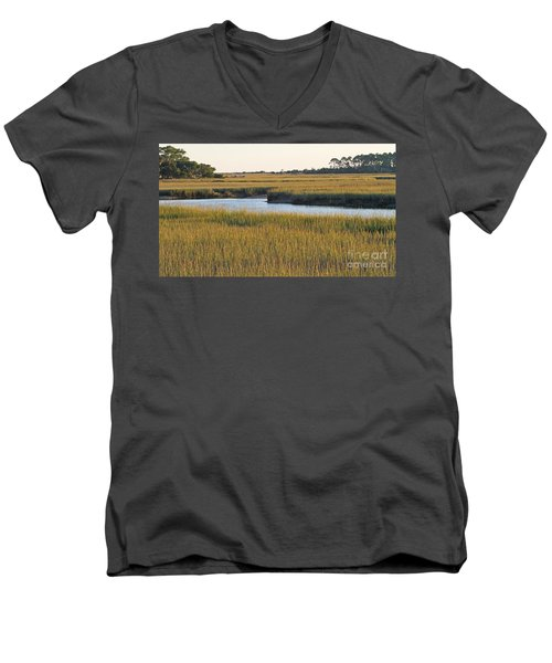 South Carolina Salt Marsh Men's V-Neck T-Shirt