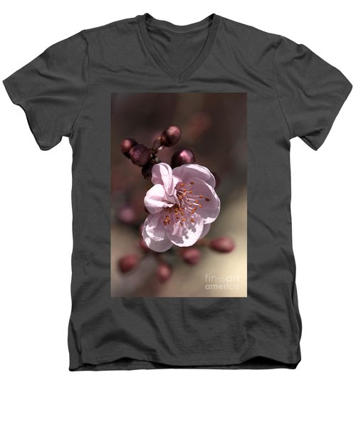 Men's V-Neck T-Shirt featuring the photograph Spring Blossom by Joy Watson