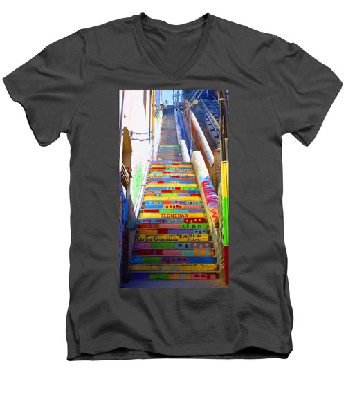 Stairway To Heaven Valparaiso  Chile Men's V-Neck T-Shirt