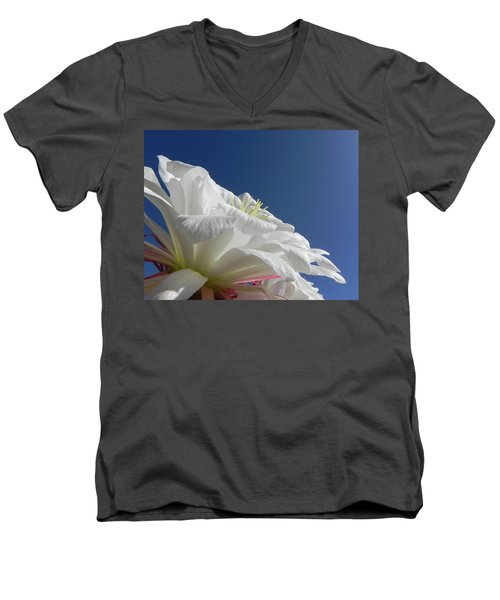 Men's V-Neck T-Shirt featuring the photograph Striking Contrast by Deb Halloran