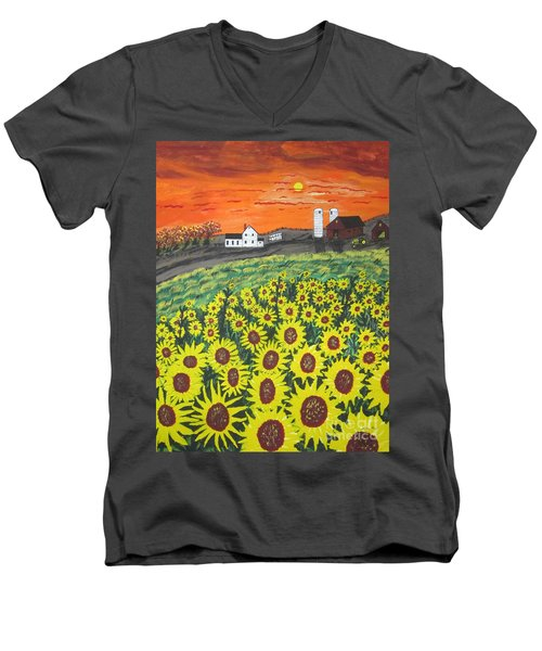 Sunflower Valley Farm Men's V-Neck T-Shirt