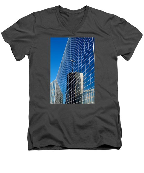 Men's V-Neck T-Shirt featuring the photograph The Crystal Cathedral by Duncan Selby