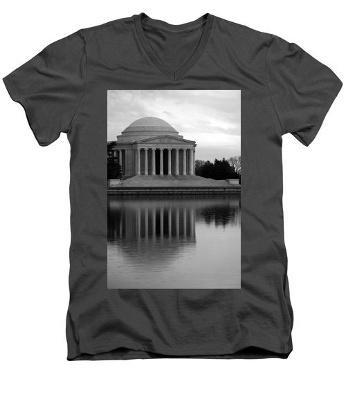 Men's V-Neck T-Shirt featuring the photograph The Jefferson Memorial by Cora Wandel