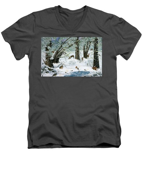 They Said It Wouldn't Snow Men's V-Neck T-Shirt