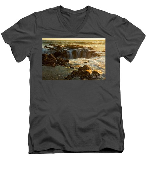 Thor's Well Men's V-Neck T-Shirt by Nick  Boren