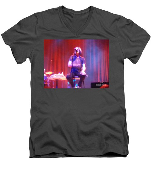 Men's V-Neck T-Shirt featuring the photograph Todd by Kelly Awad