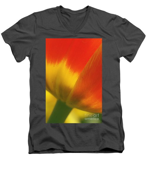 Men's V-Neck T-Shirt featuring the photograph Tulip Close Up 2 by Rudi Prott