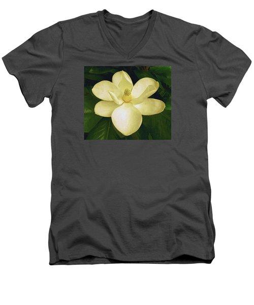 Vintage Magnolia Men's V-Neck T-Shirt