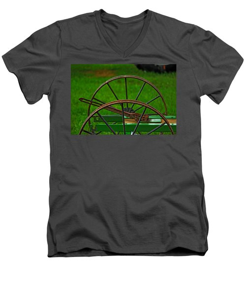 Wheels Of Time Men's V-Neck T-Shirt by Rowana Ray