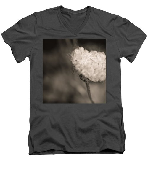 Men's V-Neck T-Shirt featuring the photograph White Whisper by Sara Frank