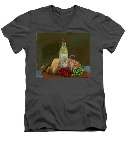 White Wine Men's V-Neck T-Shirt