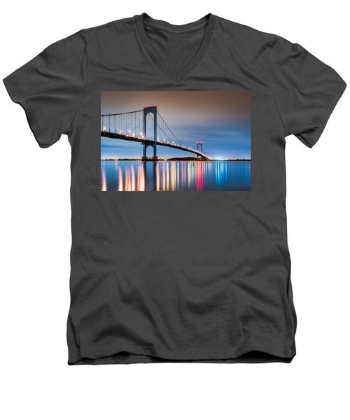 Whitestone Bridge Men's V-Neck T-Shirt