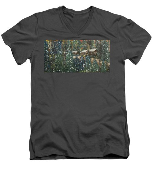Winter Has Come To Door County. Men's V-Neck T-Shirt by Andrew J Andropolis