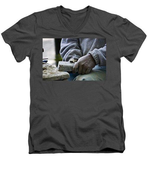 Working Hands Men's V-Neck T-Shirt