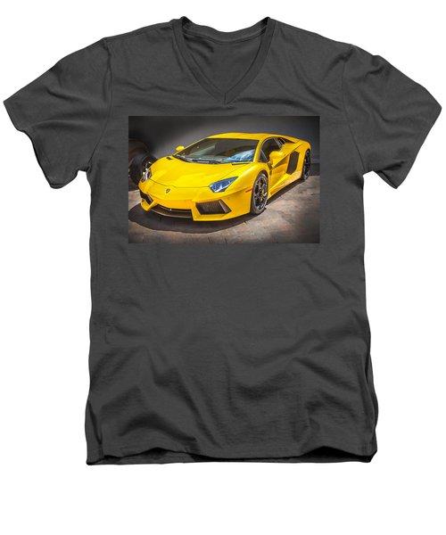 2013 Lamborghini Adventador Lp 700 4 Men's V-Neck T-Shirt