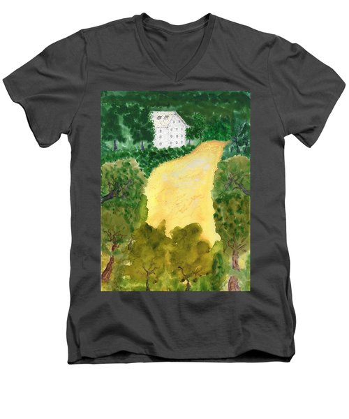 21 Room House On Golden Lake Dream Men's V-Neck T-Shirt