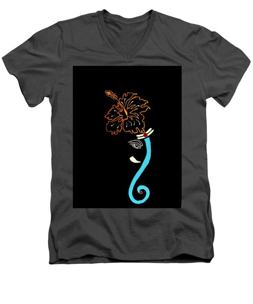 27 Mundakarama Ganesh Men's V-Neck T-Shirt