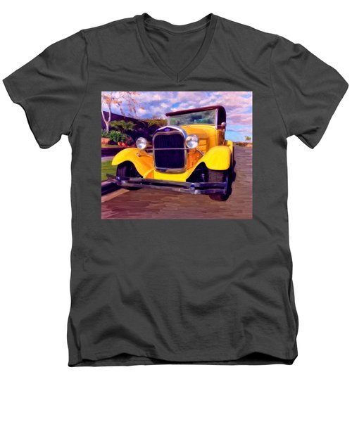 '28 Ford Pick Up Men's V-Neck T-Shirt by Michael Pickett