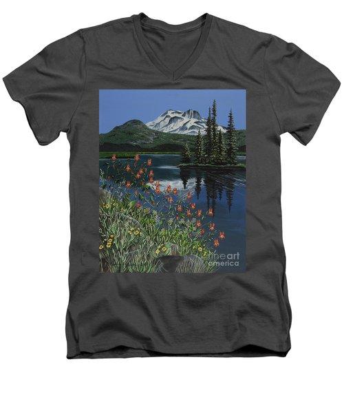 A Peaceful Place Men's V-Neck T-Shirt by Jennifer Lake