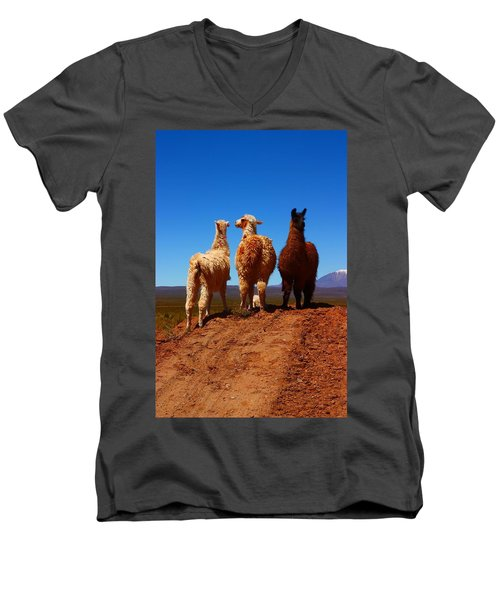 3 Amigos Men's V-Neck T-Shirt by FireFlux Studios
