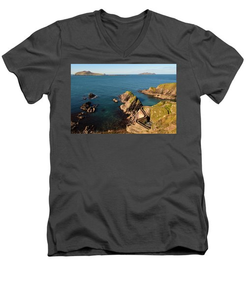 Men's V-Neck T-Shirt featuring the photograph Blasket Islands by Barbara Walsh