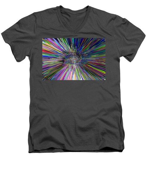 3 D Dimensional Art Abstract Men's V-Neck T-Shirt