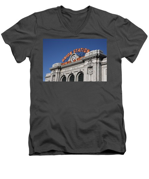 Denver - Union Station Men's V-Neck T-Shirt