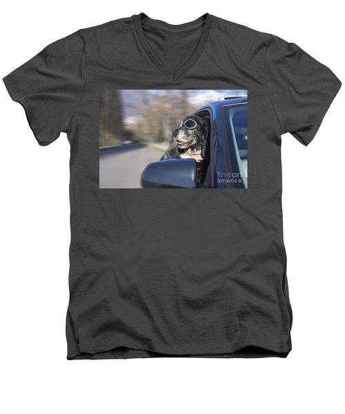 Happy Dog Men's V-Neck T-Shirt