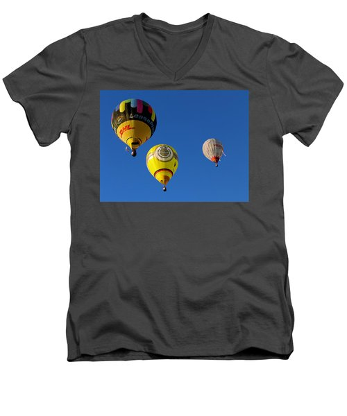 3 Hot Air Balloon Men's V-Neck T-Shirt by John Swartz