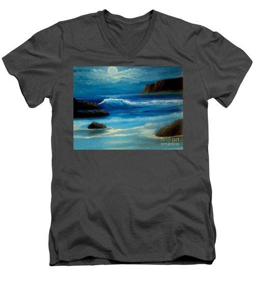 Illuminated Men's V-Neck T-Shirt by Holly Martinson