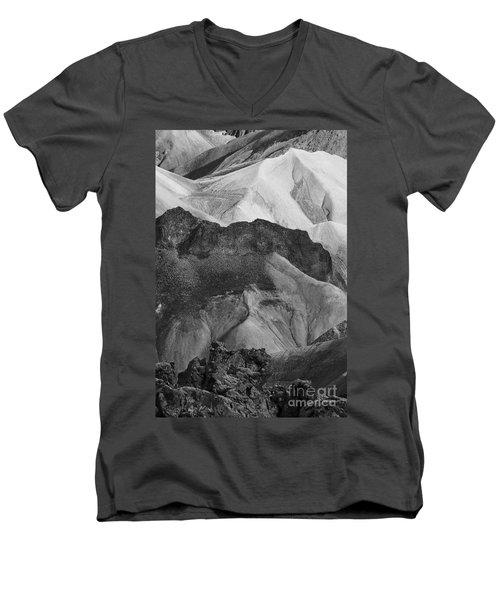 Men's V-Neck T-Shirt featuring the photograph Landmannalaugar Iceland 6 by Rudi Prott
