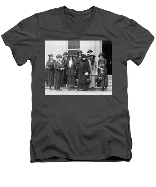 Men's V-Neck T-Shirt featuring the photograph League Of Women Voters by Granger