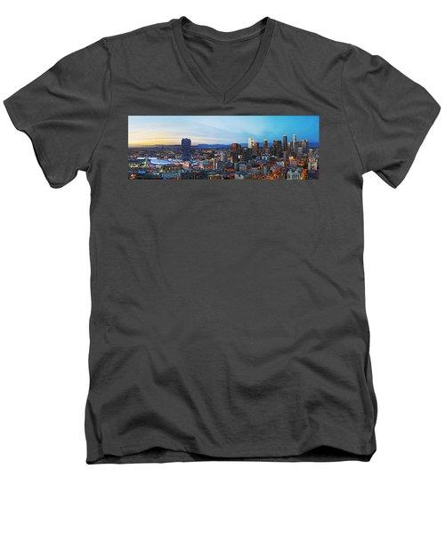 Los Angeles Skyline Men's V-Neck T-Shirt