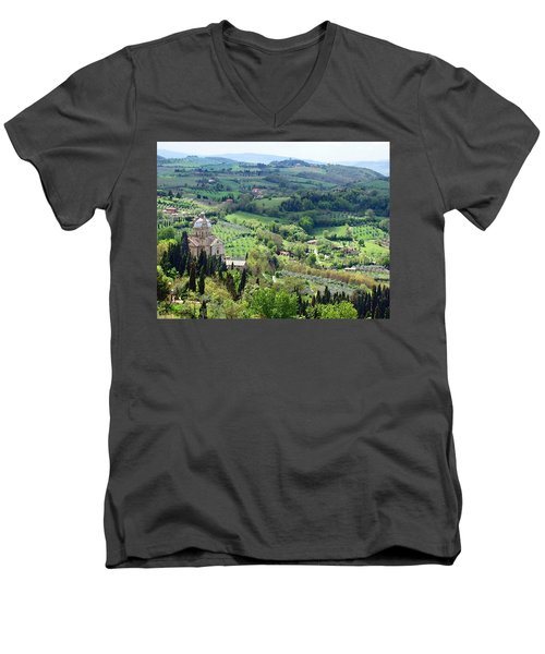 Madonna Di San Biagio Men's V-Neck T-Shirt by Ellen Henneke
