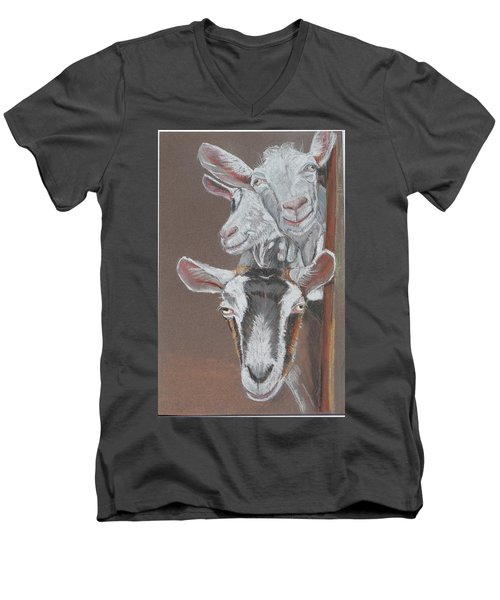 3 Nosey Goats Men's V-Neck T-Shirt