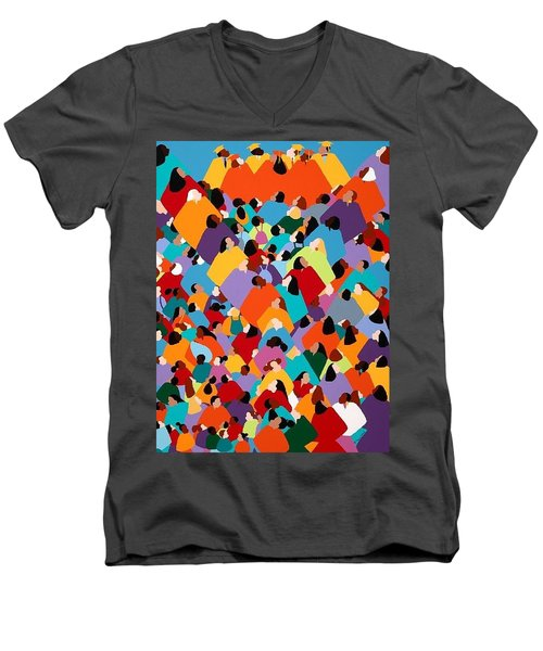 Powerfull Ywcagla Men's V-Neck T-Shirt