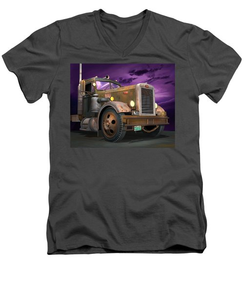 Ready 2 Duel Men's V-Neck T-Shirt by Stuart Swartz