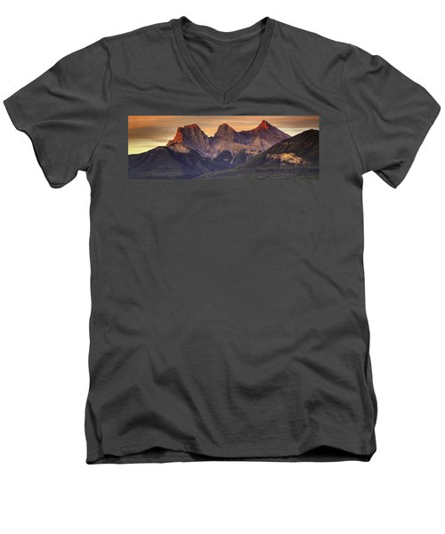 3 Sisters Canmore Alberta Men's V-Neck T-Shirt