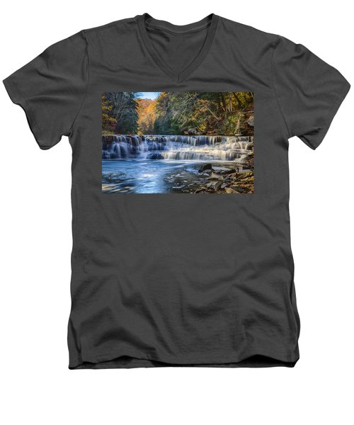 Squaw Rock - Chagrin River Falls Men's V-Neck T-Shirt